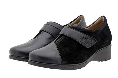 Mujer Piel Negro Ancho Velcro Calzado 16 Casual Bec Piesanto De Zapato Confort i Cómodo 9952 ZatWwdxCq