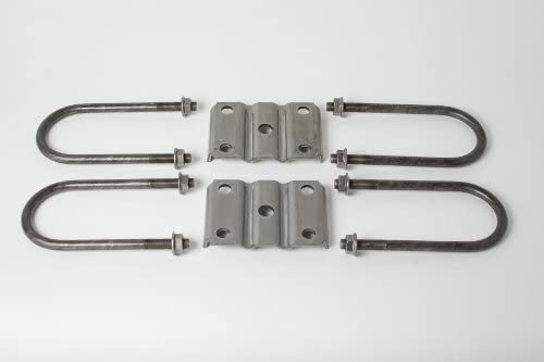 Redline U-Bolt Kit for Mounting 3,500-lb 5-1//2 Long U-Bolts Round Trailer Axles