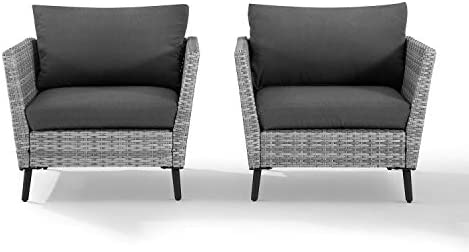 Crosley Furniture CO7318GY-CL Richland Outdoor Wicker 2-Piece Seating Set