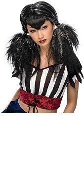 Rubie's Costume Dark Angel Wig, Black/Silver, One (Goth Cheerleader Costume)
