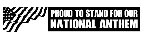 WallDecalsAndArt Car Decor Outdoor Decal is a Vinyl Outdoor Decal Displaying a National Anthem, Saying to Stand Proud - a Great Decoration for Your Vehicle, car or Truck, Similar to Stickers - Black