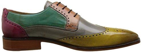 Melvin & HamiltonJeff 14 - zapatos derby hombre Multicolore (Cedro Morning Grey Pale Rose Sweet Water Fuxia)