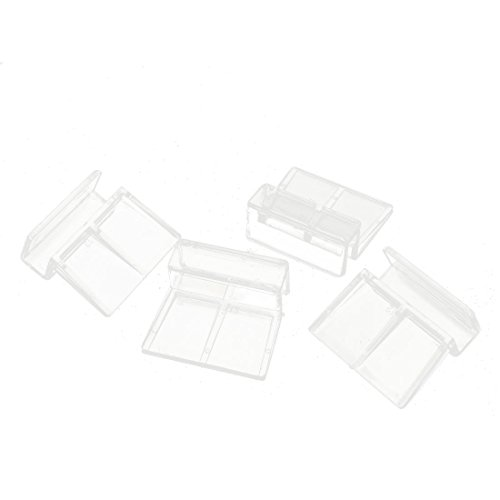 uxcell Aquarium Fish Tank Glass Cover Support Holder Clip 12mm Hose 4 Pcs Clear