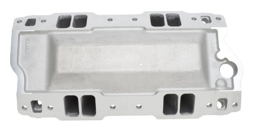 Super Victor II Series Intake Manifold Series 2 Non-EGR 4000-8000rpm Chevy Small Block 262-400 cid Raised Port 23deg. Head For 4 bbl Carbs Racing Use Only Super Victor II Series Intake Manifold - Edelbrock 2892