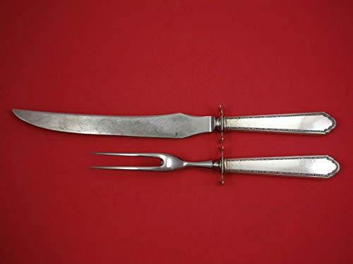 William and Mary by Lunt Sterling Silver Roast Carving Set 2-Piece HH WS
