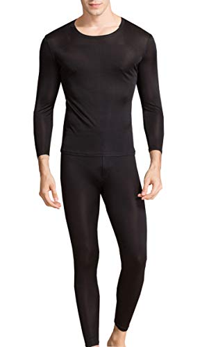METWAY Silk Long Underwear Men