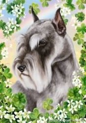 Schnauzer Grey Cropped – Tamara Burnett Saint Patricks Flag: 28 x 40 inches