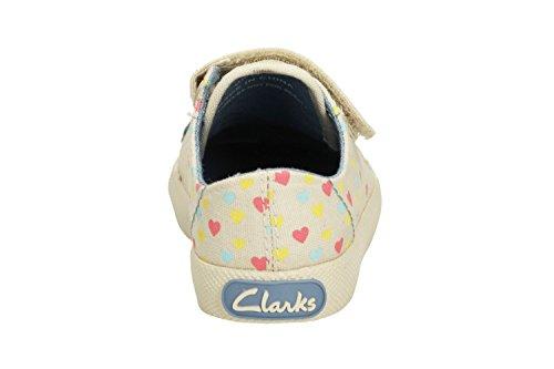Clarks Mädchen Seasonal Halcy Rae Fst Textile Sommerschuh aus Baumwolle