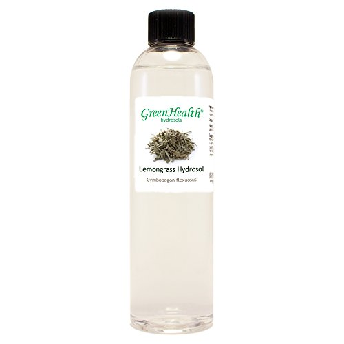 Lemongrass Hydrosol - 8 fl oz Plastic Bottle w/Cap - 100% pure, distilled from essential oil
