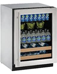 U-Line U2224BEVS00B 24 Built-in Beverage Center, Stainless Steel