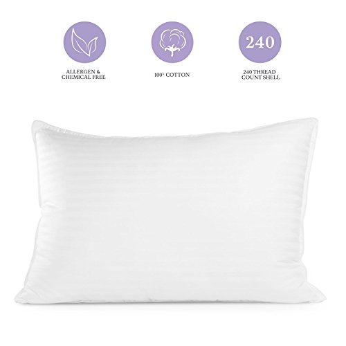 Pur-Dream Sleep Cool Gel Pillow with Hypoallergenic Cooling Gel Fiber Goose Down Alternative for Home and Hotel...