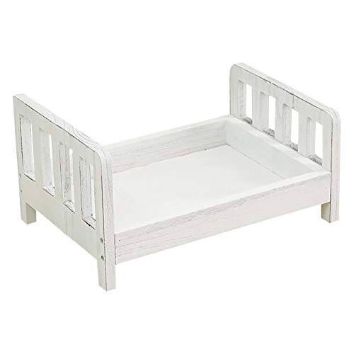 Coyan Baby Wooden Bed, Photo Prop, Small Bed Posing Baby Photography Props Photo Studio Crib for Photo Shoot Posing Sofa