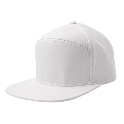 Faux Leather Snapback Panel Hat Baseball Cap Hip Hop Adjustable (US Seller) White-NEW Plain Flat (Assassin Creed Costume For Kids Cheap)