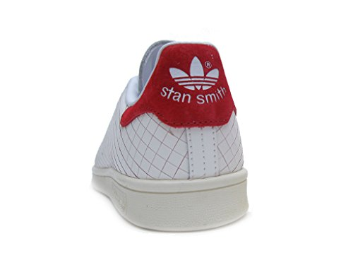 Blanco Womens Rojo Stan Trainers Adidas Leather Smith wzdcqBxcXa