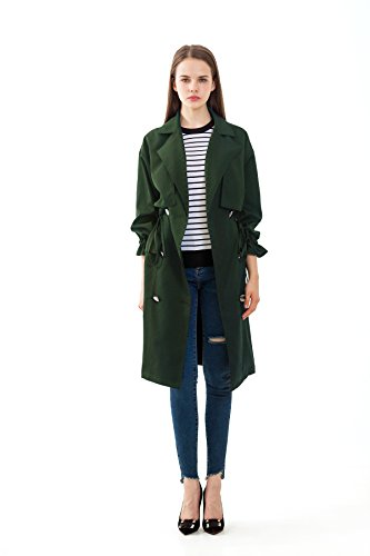 PRETTIGO Double Breasted Long Coat Outwear Trench Coat