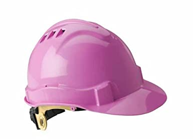 Type I//Class C Gateway Safety 71206 Serpent High Density Polyethylene Vented Safety Helmet with Ratchet Suspension Pink Shell
