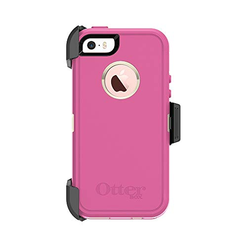 OtterBox DEFENDER SERIES for iPhone 5/5s/SE - Retail Packaging - BERRIES N CREAM (SAND/HIBISCUS PINK) (Case Pink Iphone 5s)