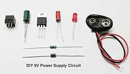 BMES LM7805 7805 5V Voltage Regulator Circuit Kit: Amazon in