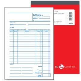 Blocco BM fatture 1 al. 15x23 mod 902 A5 2 copie 0100072 - confezione da 5 blocchi B&M
