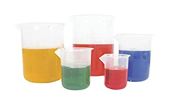 American Educational 5 Piece Polypropylene Graduated Beaker Set