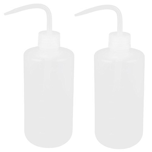 Plastic Lab Right Angle Tip Liquid Storage Squeeze Bottle 500mL 2 Pcs
