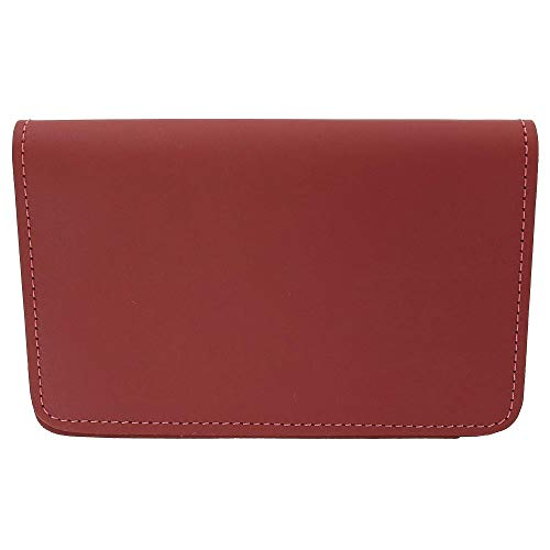 Top Stub Checkbook Cover - CTM Leather Top Stub Checkbook Cover, Red