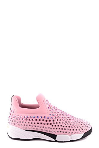 PINKO Damen MCBI242221O Rosa Stoff Slip on Sneakers