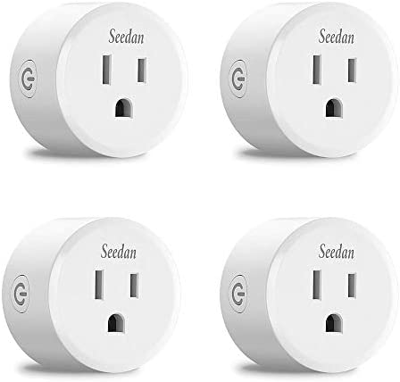 Seedan Smart plug WiFi No Hub Required 2.4Ghz Outlet with Remote Control, Timer setting Function Voice commend compatible with alexa echo Google home Mini Smart socket WiFi 4