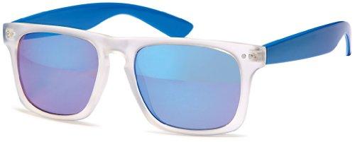 400 lunettes UV Chic millésime soleil Nerd net blancs des des transparents reflète points de blue wayfarer xYFtn4wFq