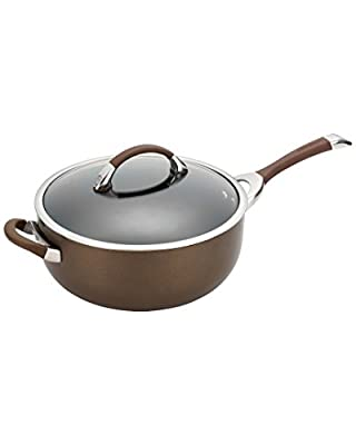 Circulon Symmetry Hard Anodized Nonstick 6-Quart Covered Chef Pan with Helper Handle