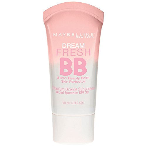 Maybelline Makeup Dream Fresh BB Cream, Light/Medium Skintones, BB Cream Face Makeup, 1 fl oz