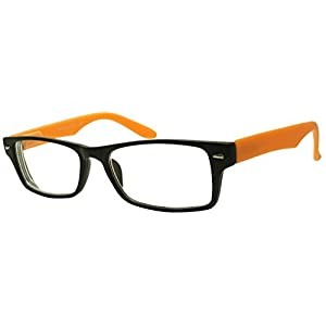 Black and Orange Magnification Eyewear Glasses for nearsightedness Myopia