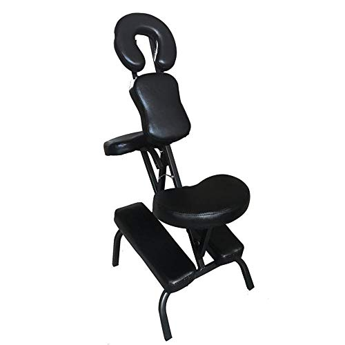 Portable Massage Chair, Tattoo Chair PU Leather Pad, Light Portable Massage Chair Travel Spa Chair, Gym Gym ()