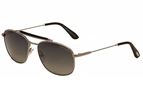 Tom Ford Sunglasses - Marlon / Frame: Shiny Light Ruthenium Lens: Polarized Smoke - Sunglasses Ford Women's Tom Polarized