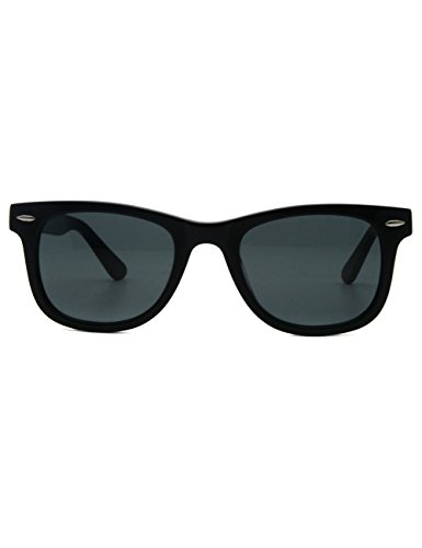 Acetate Sunglasses Vision Great Eyewear Classic Noir lens Glass ASvwq