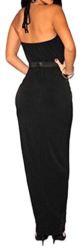 erdbeerloft - Vestido - cuello hálter - Sin mangas - Opaco - para mujer negro
