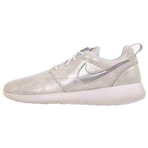(Nike Women's WMNS Roshe One PRM, Metallic Platinum/Metallic Platinum, 6.5 M US )