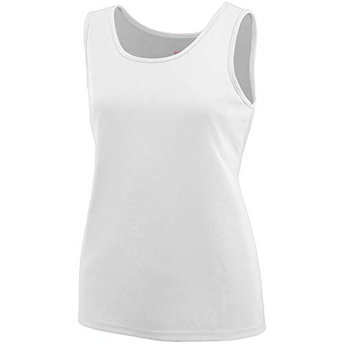 (Augusta Sportswear Girls' TRAINING TANK M White)
