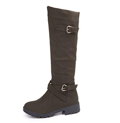 2018 Herbst Stiefel Und Stiefel Amerikanischen Army Martin Frauen Größe Und Winter Hohe green LIANGXIE Stiefel Europäischen Große vxSz64nPq