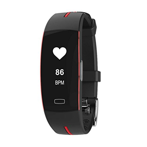 Price comparison product image Boofab Fitness Tracker,  P3 IP67 Bluetooth Smart Bracelet Sport Fitness Sleep Tracker Monitor Track WristbandSupport PPG+ECG Test & Blood Pressure Heart Rate Measurement (H)