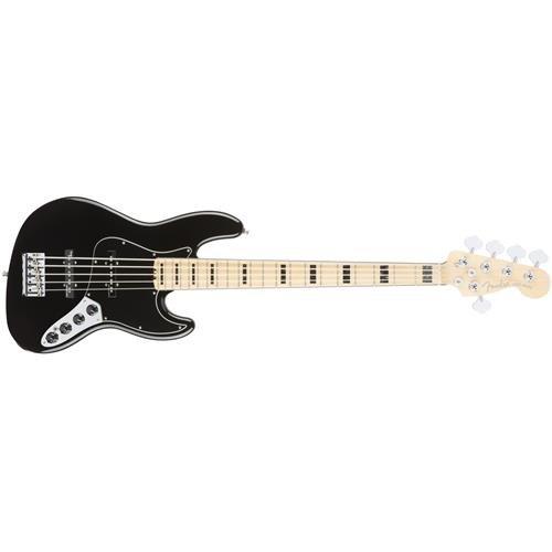 Fender American Elite Jazz Bass - Black -  0197102706
