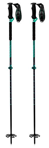 K2 Lockjaw Carbon 130 Ski Pole 2019 - Green (K2 Ski Pole Baskets)