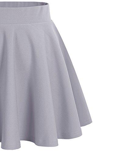 Dresstells vase Mini en Gris Courte Jupe Polyester O6rqO