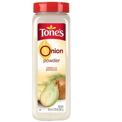 Tone's Onion Powder - 20oz shaker - CASE PACK OF 2 by Tone's