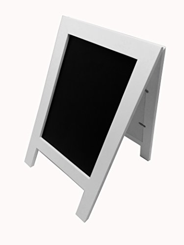 FixtureDisplays 8.3 x 11.7'' Double Sided Coutertop Sign Holder A Frame Wood Chalkboard For Wedding Or Small Business White 21124! by FixtureDisplays