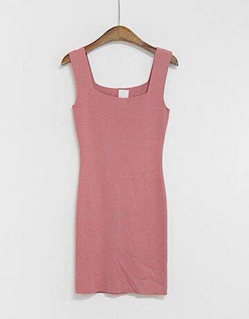DIU 2019 Tejer Vestidos de algodón Verano 2019 Slim Scoop Neck SunOne Size 2: Amazon.es: Deportes y aire libre
