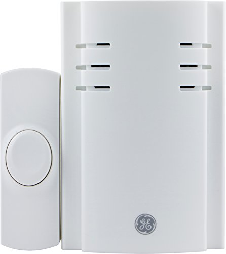(GE Door Chime, Wireless Extender, Plug, 150 Ft Range, Replacement Doorbell Receiver, Adjustable Volume)