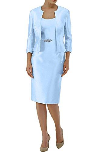 Festlichkleider Formalkleider Abendkleider Etuikleider Formalkleider Damen Charmant Weiss Blau Langarm Brautmutterkleider Himmel nqHSPO4w