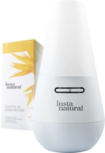 InstaNatural Essential Oil Diffuser for Aromatherapy - Ultrasonic Mist Humidifier and Ionizer for Any Living Space - With (Healing Ionizer)