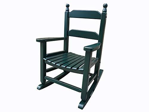 (rockingrocker - K081DG Durable Dark Green Child's Wooden Rocking Chair/Porch Rocker - Indoor or Outdoor - Suitable for 3-7 Years Old)